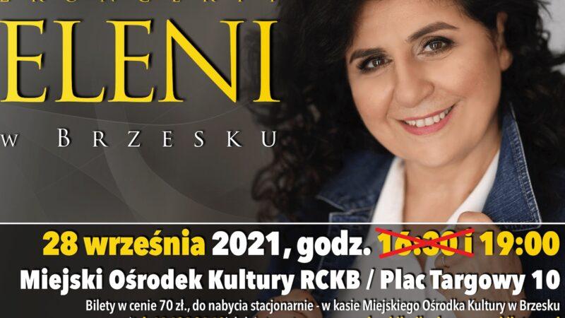 UWAGA! Zmiana godziny koncertu ELENI !!!